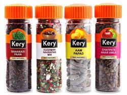 Kery Pachak Combo Navratan Mix Mukhwas, Banarasi Paan, Anar Amla, Aam Papad Mango Slice Mouth Fresheners (4 Bottles) 530g