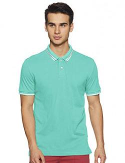 Bradstreet by Arrow Men Plain Regular Fit Polo Shirt (BSXTS3910_ Blue_ X-Large Hs)