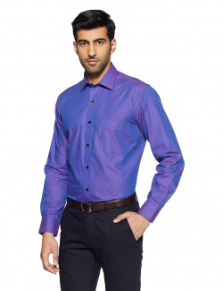 Arrow Men's Paisley Regular Fit Business Shirt (AFUSH0590_39FS_Purple)