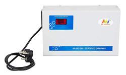 Servomate 5KVA (175v-260v) Automatic Voltage stabilizer for 2 ton ac, Aluminium, Wall Mount Model, Color Ivory & Blue