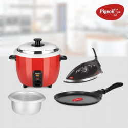 Pigeon Electric Rice cooker combo(1.8 L, Red)