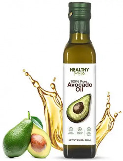 Healthy Muse, Avocado Oil, Cold Press, Chemical Free Oil, 271° C Smoking Point for Heat Cooking, Frying and Baking - 250 ml