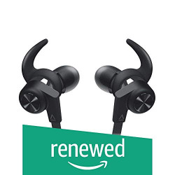 (Renewed) Creative Outlier ONE Wireless Bluetooth 4.1, IPX4 Water-Resistant Sweat-proof In-Ear Headphones with Built-in Microphone, 9.5 Hours Battery Life and Tangle-Free Cable (Black)