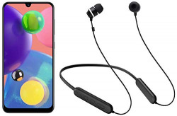 Samsung A70s 8GB Blue + Samsung Wireless Earphone with Flexible Neck Band