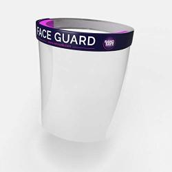Raho Safe Face Guard with Soft Sponge Headband, Washable Plastic Sheet (Pack of 4)