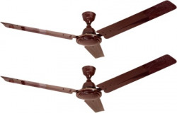 Four Star FABIA Brown 1200mm - Pack Of 2 1200 mm 3 Blade Ceiling Fan(BROWN, Pack of 2)