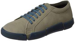 Amazon Brand - Inkast Denim Co. Men's Olive/Blue Sneakers-8 UK (42 EU) (9 US) (AZ-IK-007)