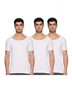 Amazon Brand - Symbol Men's Plain Vest (Pack of 3) (SYMVSTPO3-02_White_Xx-Large)