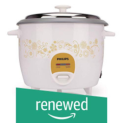 (Renewed) Philips 3045 4.2-Litre Rice Cooker (White)