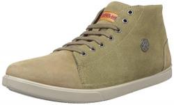 Woodland Men's Khaki Leather Sneakers-6 UK (40 EU) (GC 2310116)
