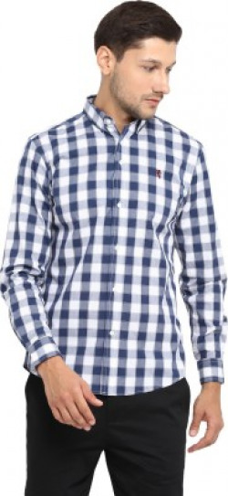 Red Tape Men Checkered Casual Blue Shirt