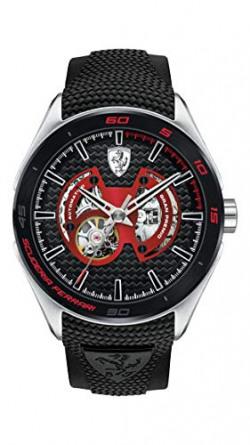 Scuderia Ferrari Gran Premio Analog Black Dial Men's Watch - 0830348