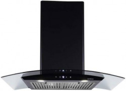 Elica ESCG HAC TOUCH 90 NERO 2F with 2 Baffle Filter, , Auto Clean Wall Mounted Chimney  (Black 1100 m³/h)