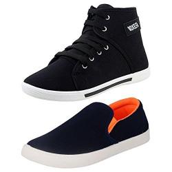 WORLD WEAR FOOTWEAR Men's Combo Multi-Coloured Canvas Casual Shoes-9