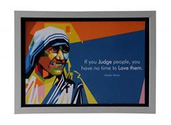 SEPIA Craft Mother Teresa Motivational Frame -Quotes Frame (23 cm x 31.5 cm x 0.5 cm, ADS - WFA4-7MT) Frame (Mother Teresa)