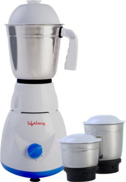Lifelong Maxo LLMG21 500 Juicer Mixer Grinder(Blue, 3 Jars)