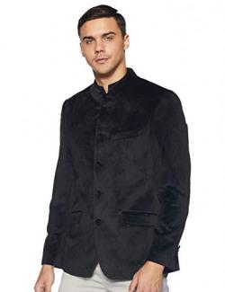 John Players Men's Shawl Collar Slim fit Blazer (440936979003_Black_S)
