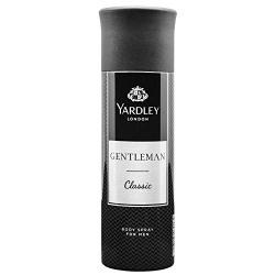 Yardley London Gentleman Classic Deo Body Spray for Men, 220ml