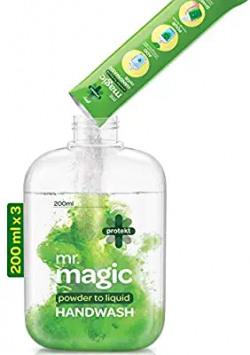 Godrej Protekt Mr. Magic Powder-to-Liquid Handwash Bottle + 3 Sachet:3U of 9g=27g 10% off