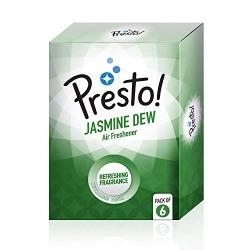 Amazon Brand - Presto! Air Freshener Pocket, Jasmine Dew - 10 g (Pack of 6)