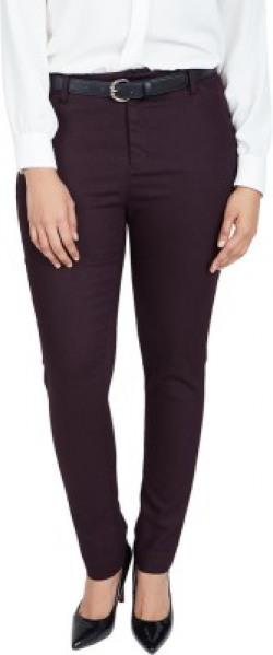 Allen Solly Regular Fit Women Maroon Trousers