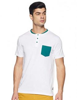 Amazon Brand - Symbol Men's Solid Regular Fit Half Sleeve Cotton T-Shirt (AW19TEE04_White_M)