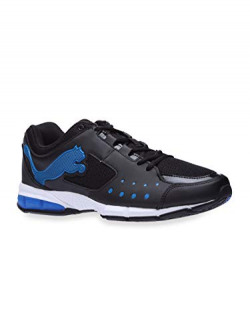 Puma Men's Stocker IDP Black-Snorkel Blue Silver Sneakers- 4 UK/India (37 EU) (4056207676469)