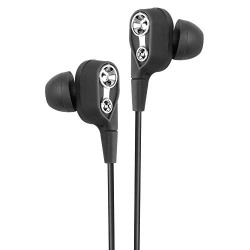 ROXO RX -01 Deep Bass Stereo Dual Driver Sport Wired Headset with Earbuds & Mic for All Smartphones (Black)