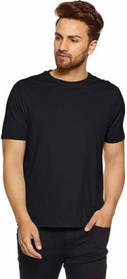 Vimal Jonney Solid Men Round Neck Black T-Shirt
