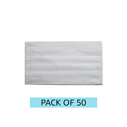 Amazon Brand - Solimo 3-Ply Disposable Surgical Mask with Meltblown Filter, Set of 50