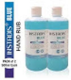 Instadis Blue Propanol Handrub Sanitizer 500 ml ( Pack of 2 )