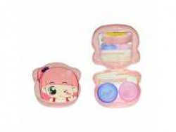 Gold Look Contact Lens Holder Travel Kit Case Box Container Holder with Mirror Tweezers and Solution Bottle (Random Color)(1 pc only)