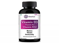 ClearCut Vitamin D3, Vitamin k2, Vitamin B12, calcium tablets, 120 Nos