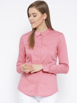Vero Moda Women Solid Casual Pink Shirt