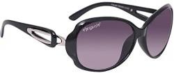 elegante' UV protected Purple Oval Sunglasses for Women