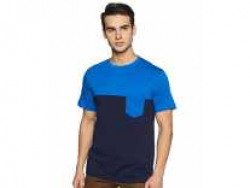 Amazon Brand - Symbol Men's Solid Regular Fit Half Sleeve Cotton T-Shirt (SS19MNTEE10-4_Multicolor_Small) Rs. 259 - Amazon