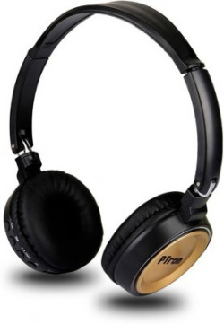 PTron Trips On Ear Bluetooth Headset(Gold, Wireless over the head)