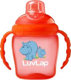 LuvLap Hippo Sipper 225ml(Orange)
