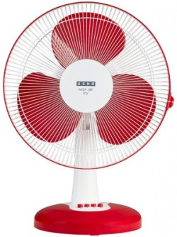 Usha Mist Air Icy 400 mm 3 Blade Table Fan(Red, Pack of 1)