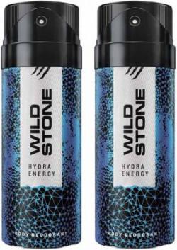 Wild Stone HYDRA ENERGY ( PACK OF 2) Deodorant Spray - For Men  (150 ml, Pack of 2)