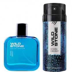 Wild Stone Hydra Energy Deodorant and Perfume Body Mist  -  For Men(200 ml, Pack of 2)