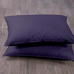 Cloth Fusion Plain 210 TC Cotton Pillow Cover Set of 2 Piece (18  X 27 _Grey )