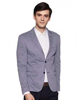 United Colors of Benetton Men's Notch Lapel Regular fit Blazer (19A2FSIC3043I_901_EL_Blue_XXL
