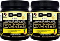 Advance MuscleMass BCAA 2 : 1 : 1   Energy drink for Workout   7.6 G BCAA   with Shaker   Pack 2 BCAA(200 g, Pineapple)