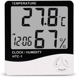 ADONAI Abs Desk Clock (White_16.3 X 11.9 X 3 Cm)