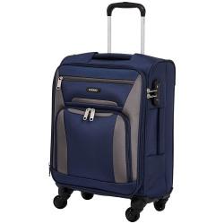 Amazon Brand - Solimo 56.5 cms Softsided Suitcase with Wheels and TSA Lock, Blue