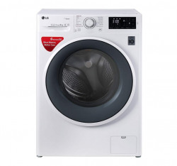 LG 6 kg Inverter Fully-Automatic Front Loading Washing Machine (FHT1006SNW.ABWPEIL, White, Inbuilt Heater)