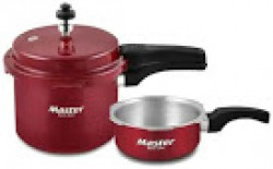 Master Aura Aluminium Pressure Cooker (Set of 3L cooker and 2L Pan) (ISI Marked)