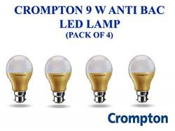 Crompton LED Lamp 9W B22 CDL Anti Bacterial Pack of 4