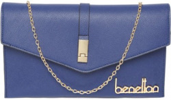 United Colors of Benetton Casual Blue  Clutch